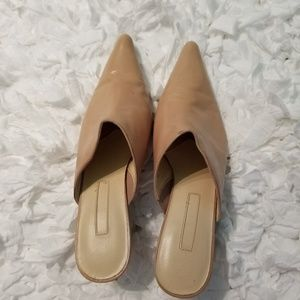Enzo Angiolini Light Camel Leather Mule shoes.
